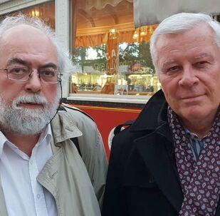 Zleva: bezpečnostní analytik Jan Schneider, PhDr. Josef Skála, CSc., komunista a marxista na volné noze.
