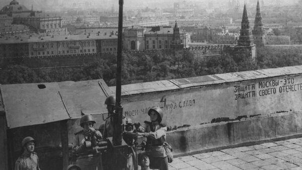 Protiletadloví střelci na stráži u Moskevského Kremlu, 1941 - Sputnik Česká republika