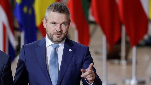 Peter Pellegrini na summitu v Bruselu - Sputnik Česká republika