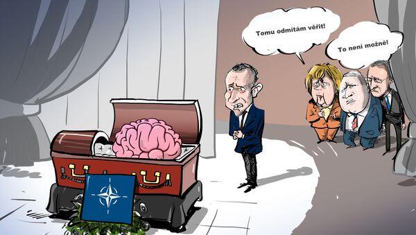 Karikatira Pohřeb NATO - Sputnik Česká republika