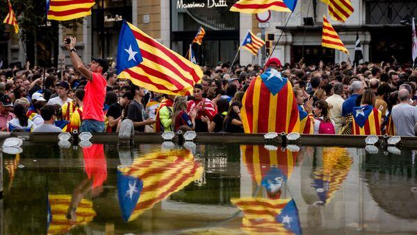 Protesty v Barceloně - Sputnik Česká republika