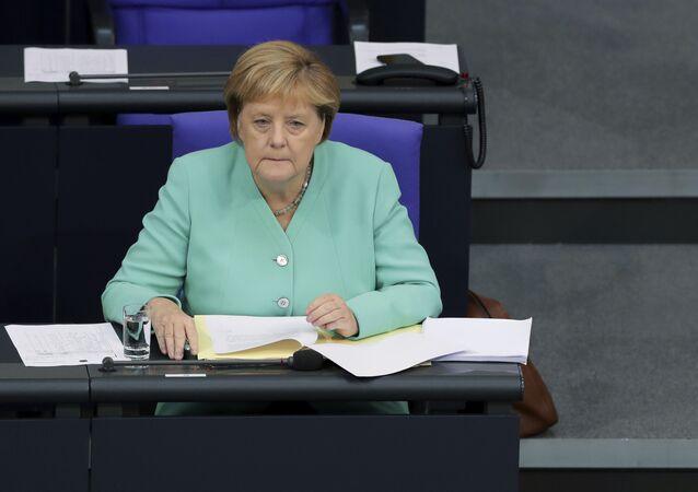 Bundeskanzlerin Angela Merkel im Bundestag am 26. September 2019