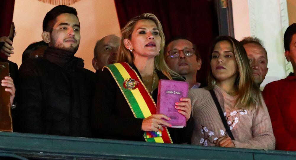Prezidentka Bolívie Jeanine Áňezová