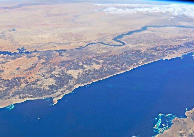 Rudé moře a řeka Nil. Pohled z ISS
