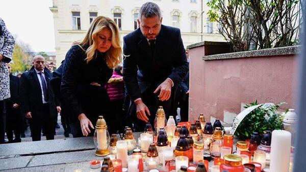 Slovenská prezidentka Zuzana Čaputová a premiér Peter Pellegrini - Sputnik Česká republika