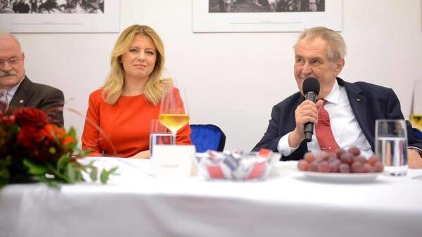 Zuzana Čaputová a Miloš Zeman - Sputnik Česká republika