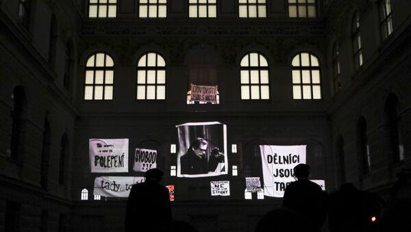 Fotografie prvního prezidenta České republiky Václava Havla v Národním muzeu v Praze - Sputnik Česká republika