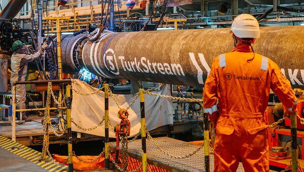 Výstavba plynovodu Turecký proud - Sputnik Česká republika