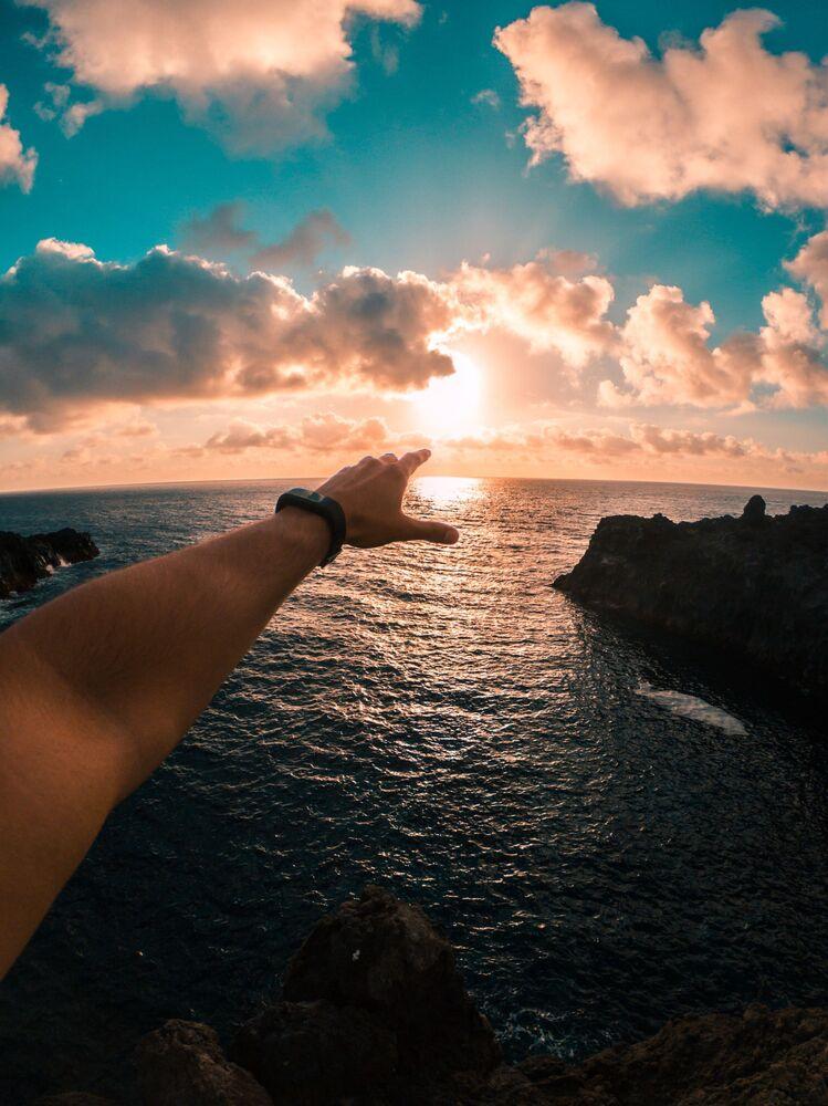 Západ slunce (Kanárské ostrovy, Španělsko)