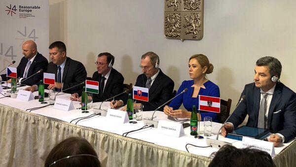 Setkání ministrů vnitra zemí V4, Praha - Sputnik Česká republika