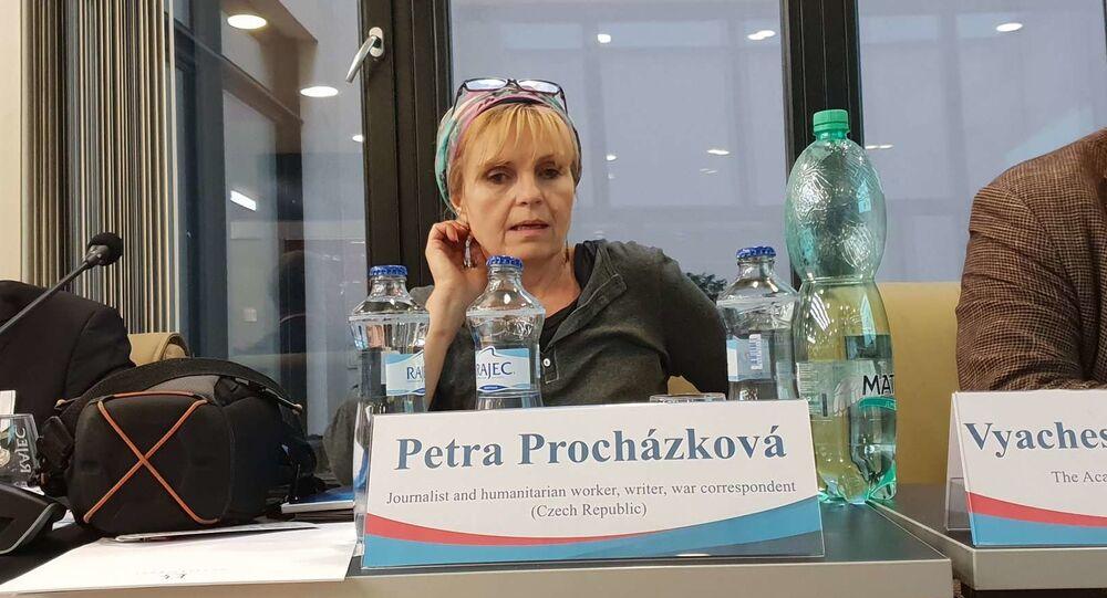 Petra Procházková na Mediálním fóru 2019 v Praze