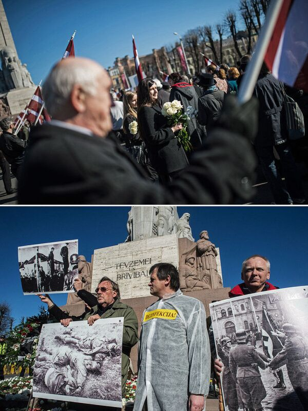 Pochod legionářů SS v Rize a pochody esesáků v době Druhé světové války - Sputnik Česká republika