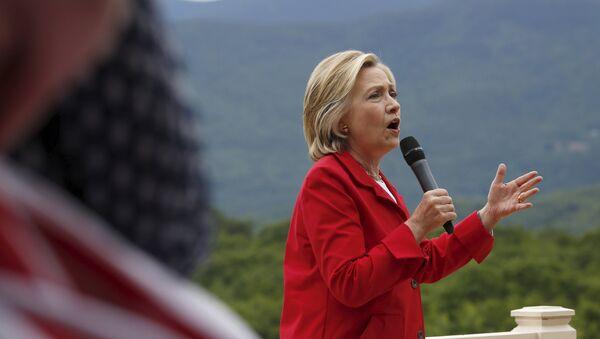 Kandidátka na prezidentku USA Hillary Clinton - Sputnik Česká republika
