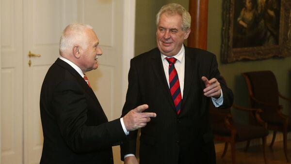 Václav Klaus a Miloš Zeman - Sputnik Česká republika