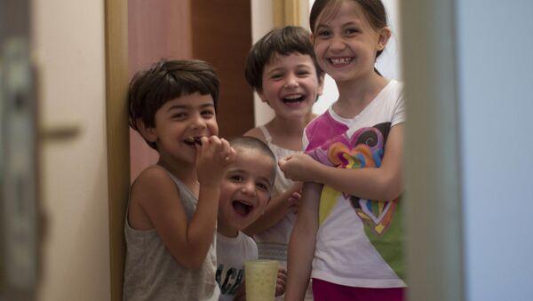 Děti syrských Čerkesů - Sputnik Česká republika