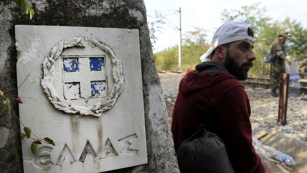Migrant v Řecku - Sputnik Česká republika