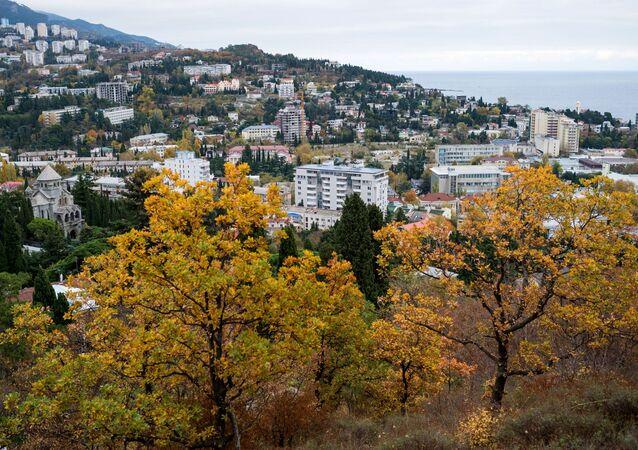 Pohled na Jaltu na Krymu
