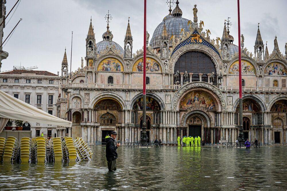 Náměstí svátého Marka v Benátkách.