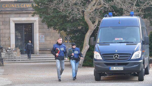 Policie u saské klenotnice Zelená klenba v Drážďanech - Sputnik Česká republika