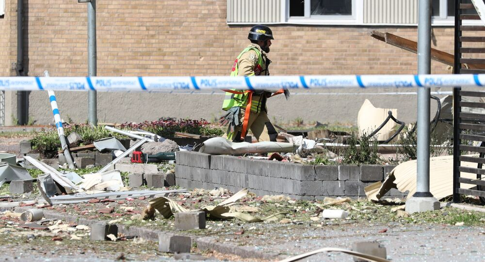 Výbuch v univerzitním městě Linköping, Švédsko, červen 2019