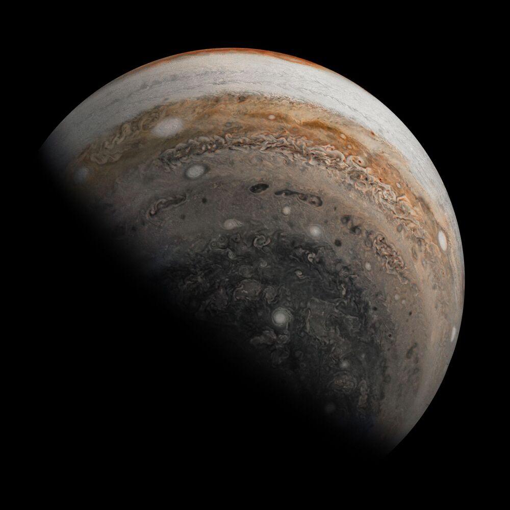 Jižní polokoule Jupiteru