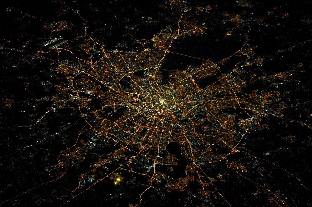 Fotografie Moskvy z vesmíru