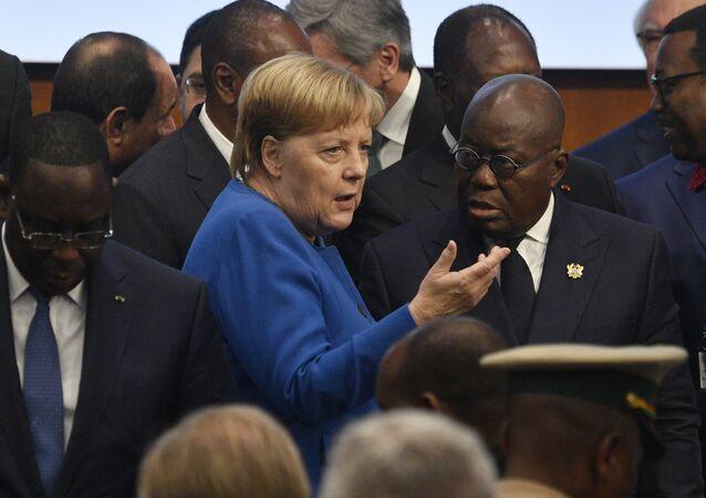 Angela Merkelová na Africké konferenci v Berlíně