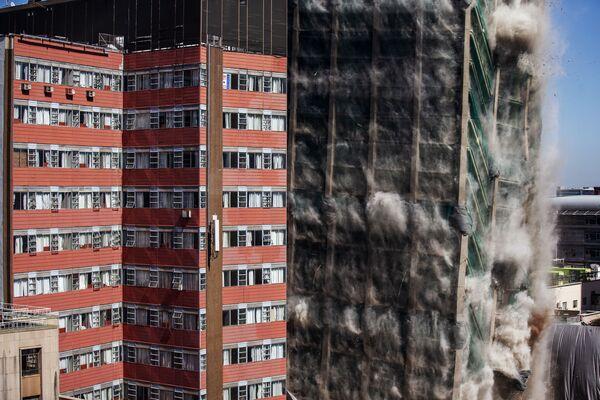 Demolice budovy Lisabonské banky v Johannesburgu, Jihoafrická republika - Sputnik Česká republika