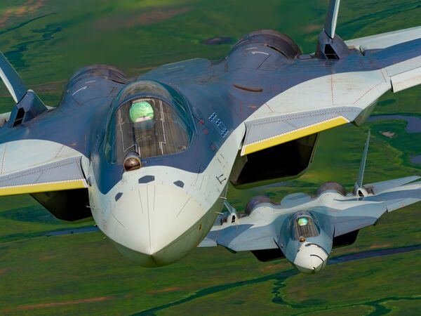 Ruská víceúčelová stíhačka páté generace Su-57 - Sputnik Česká republika