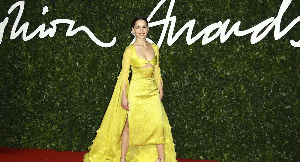Americká herečka Emilia Clarke