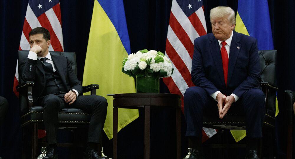 Prezidenti USA a Ukrajiny Donald Trump a Volodymyr Zelenskyj na schůzce v New Yorku (25. září 2019)