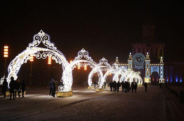 Vítejte v pohádce: Moskva se oblékla do novoroční výzdoby - Sputnik Česká republika