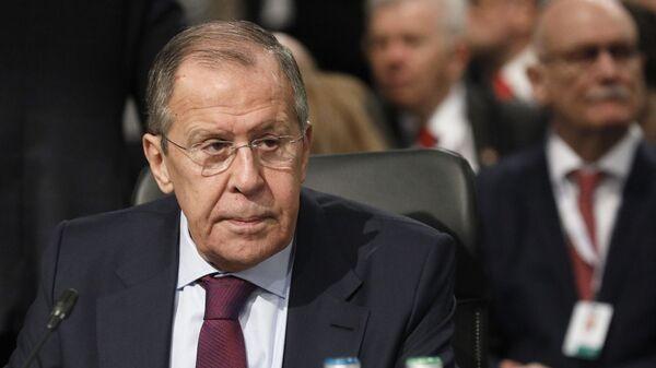 Ruský ministr zahraničí Sergej Lavrov na 26. zasedání Rady ministrů zahraničí OBSE (5. 12. 2019) - Sputnik Česká republika
