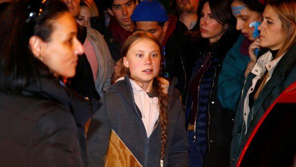 Greta Thunbergová v Madridu - Sputnik Česká republika