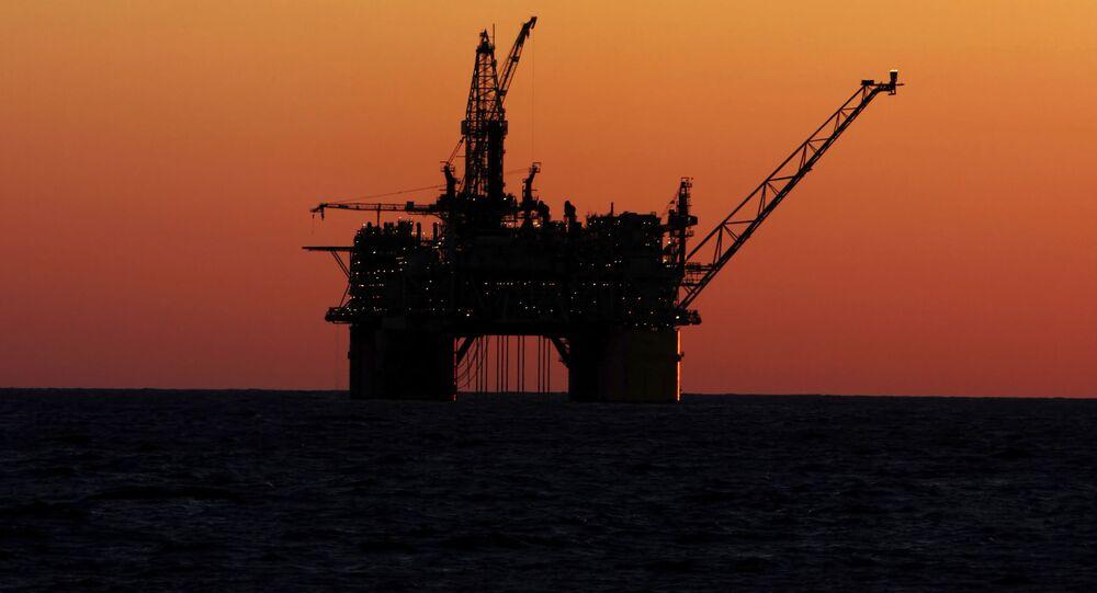 Ropná plošina u pobřeží Mexika