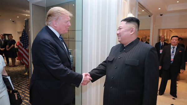 Donald Trump a Kim Čong-un - Sputnik Česká republika