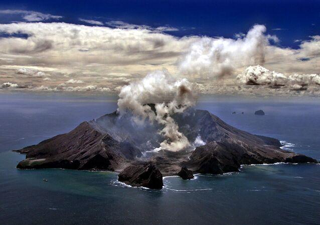 Erupce sopky na Novém Zélandu