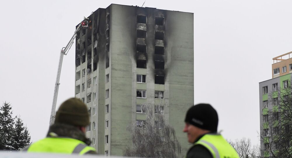 Požár v důsledku výbuchu plynu v obytné budově, Prešov