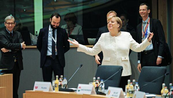 Německá kancléřka Angela Merkelová na summitu EU v Bruselu - Sputnik Česká republika