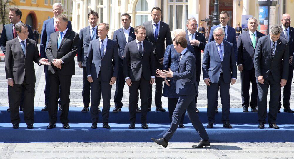 Vedoucí představitelé EU na summitu v rumunském Sibiu