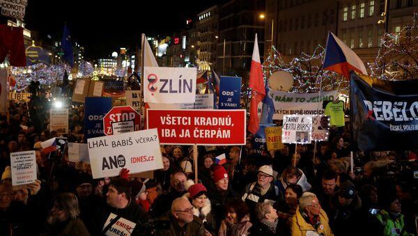 Demonstrace Milionu chvilek proti premiérovi Babišovi - Sputnik Česká republika