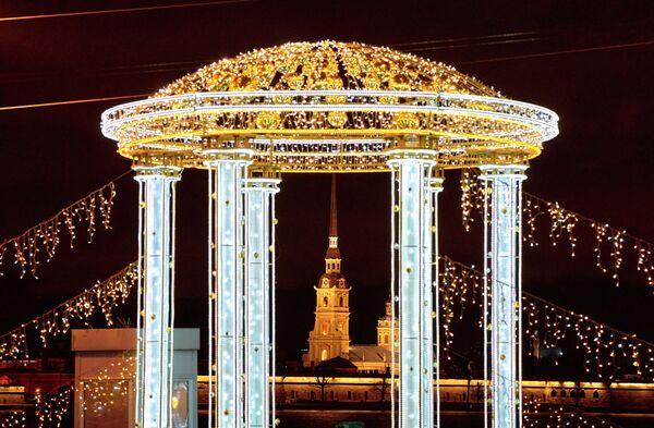 Vánoční výzdoba Palácového mostu - Sputnik Česká republika
