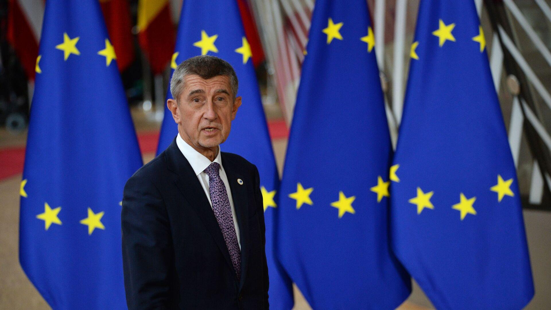 Český premiér Andrei Babiš na Summitu EU v Bruselu - Sputnik Česká republika, 1920, 25.06.2021