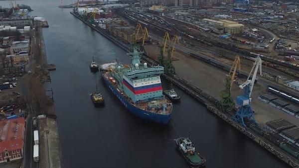 Nejvýkonnější atomový ledoborec na světě zahájil testy v Baltském moři - Sputnik Česká republika
