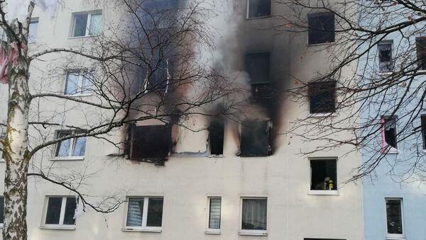 Výbuch v domě v německém Blankenburgu - Sputnik Česká republika