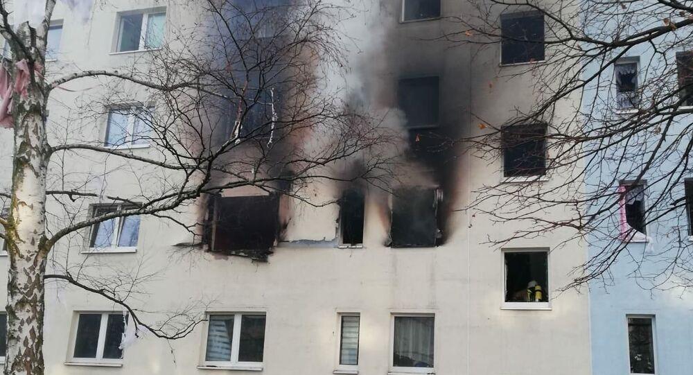 Výbuch v domě v německém Blankenburgu