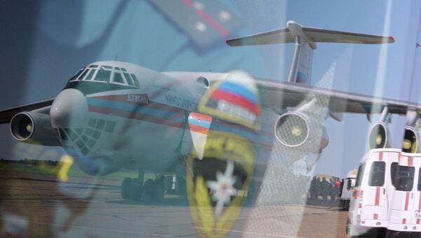 Letadlo Il-76 s humanitární pomocí - Sputnik Česká republika
