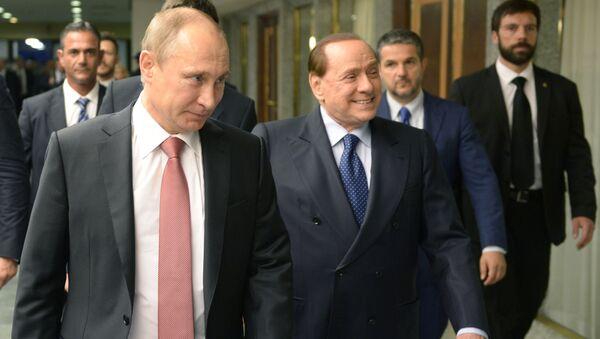 Vladimir Putin a Silvio Berlusconi - Sputnik Česká republika