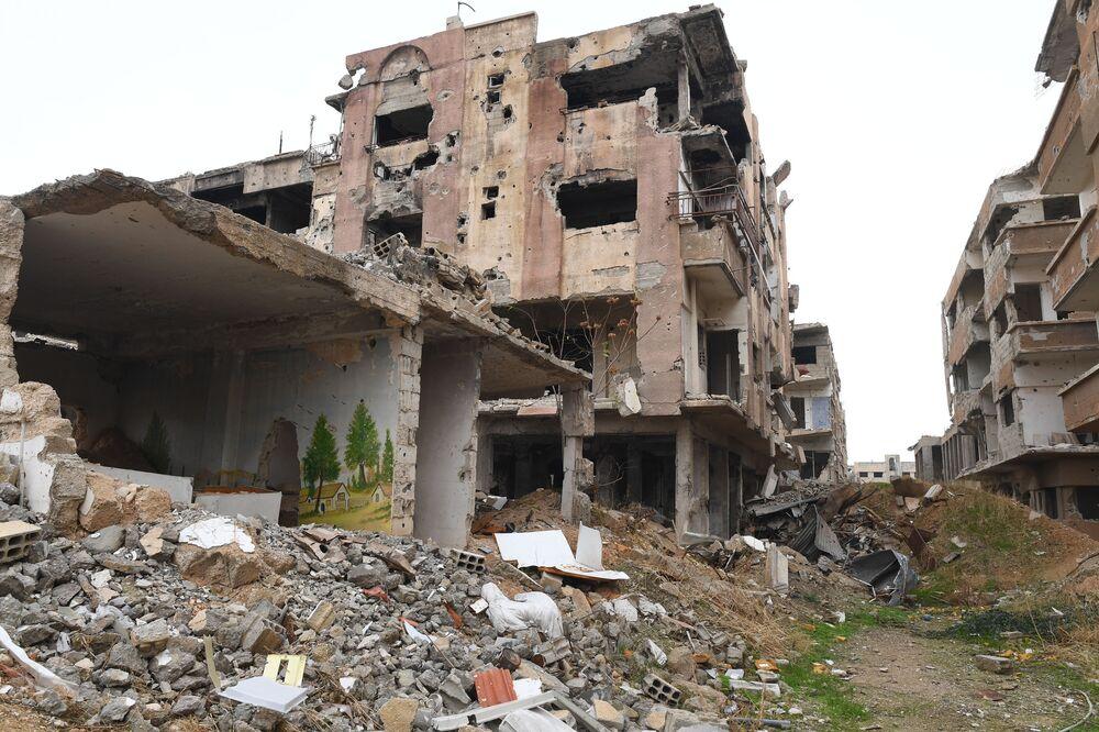 Zříceniny na předměstí Jobaru.