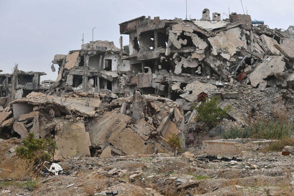 Předměstí Jobaru, které bylo po dlouhou dobu pod kontrolou teroristů.